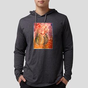 Colorful blooming cactus art Mens Hooded Shirt