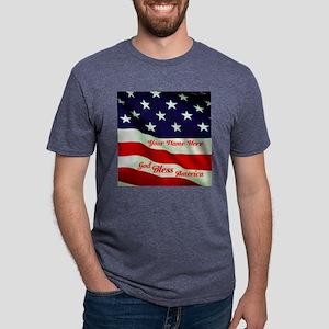 God Bless America Mens Tri-blend T-Shirt
