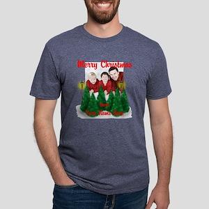 Family Christmas Mens Tri-blend T-Shirt
