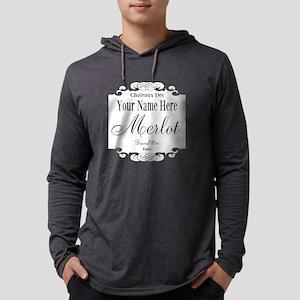 Merlot Label Mens Hooded Shirt
