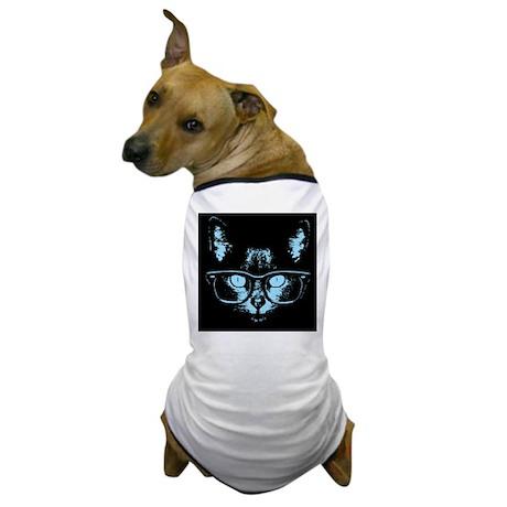 Blue Nerd Cat Dog T-Shirt