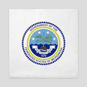 Micronesia Coat Of Arms Queen Duvet