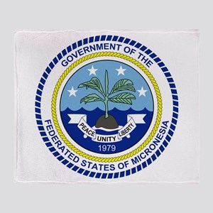 Micronesia Coat Of Arms Throw Blanket