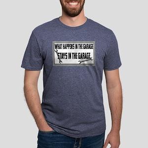 garage stays in garage Mens Tri-blend T-Shirt