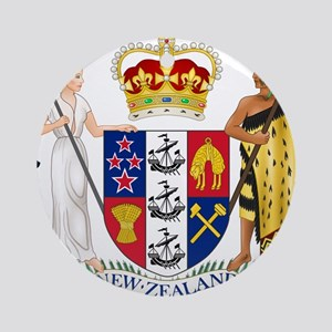New Zealand Coat Of Arms Ornament (Round)