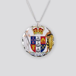 New Zealand Coat Of Arms Necklace Circle Charm