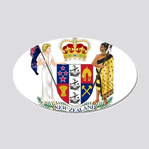 New Zealand Coat Of Arms 20x12 Oval Wall Decal