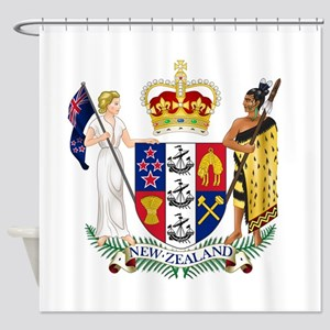 New Zealand Coat Of Arms Shower Curtain