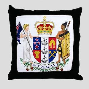 New Zealand Coat Of Arms Throw Pillow