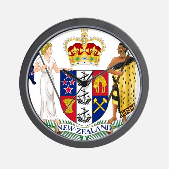 New Zealand Coat Of Arms Wall Clock