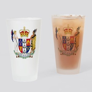 New Zealand Coat Of Arms Drinking Glass
