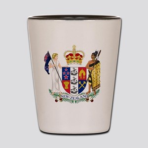 New Zealand Coat Of Arms Shot Glass