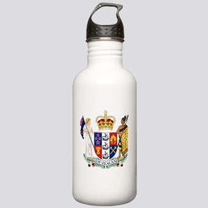 New Zealand Coat Of Arms Stainless Water Bottle 1.