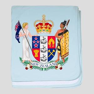 New Zealand Coat Of Arms baby blanket