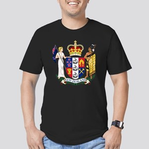 New Zealand Coat Of Arms Men's Fitted T-Shirt (dar