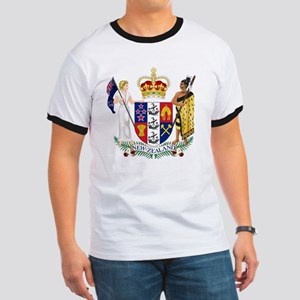 New Zealand Coat Of Arms Ringer T