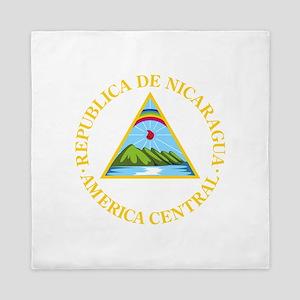 Nicaragua Coat Of Arms Queen Duvet