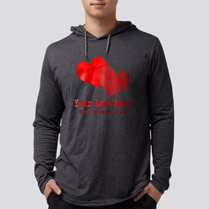 Wedding Hearts Mens Hooded Shirt