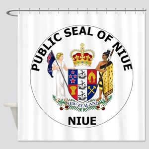 Niue Coat Of Arms Shower Curtain