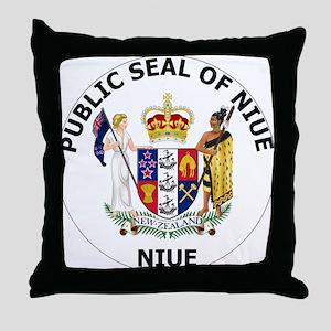 Niue Coat Of Arms Throw Pillow