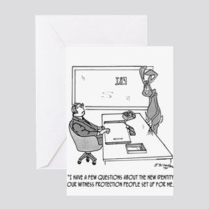 Witness Cartoon 1727 Greeting Card