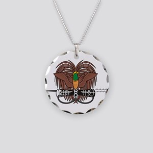 Papua new Guinea Coat Of Arms Necklace Circle Char