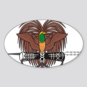 Papua new Guinea Coat Of Arms Sticker (Oval)