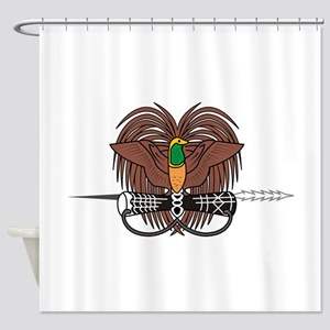 Papua new Guinea Coat Of Arms Shower Curtain