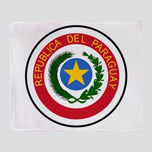 Paraguay Coat Of Arms Throw Blanket