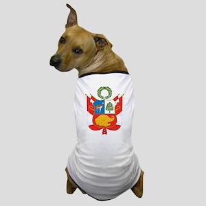Peru Coat Of Arms Dog T-Shirt
