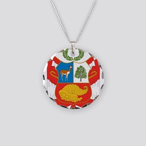 Peru Coat Of Arms Necklace Circle Charm