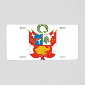 Peru Coat Of Arms Aluminum License Plate