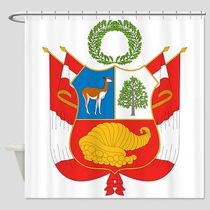 Peru Coat Of Arms Shower Curtain