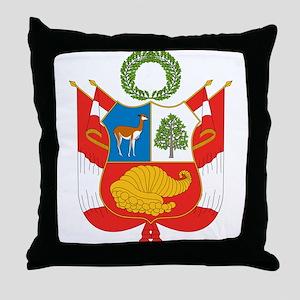 Peru Coat Of Arms Throw Pillow