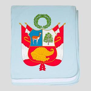 Peru Coat Of Arms baby blanket