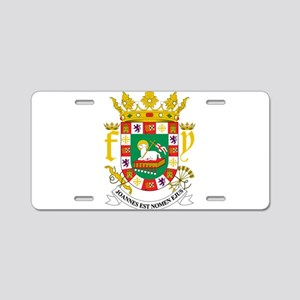 Puerto Rico Coat Of Arms Aluminum License Plate