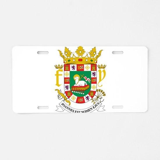 Puerto Rico Coat Of Arms Aluminum License Plate
