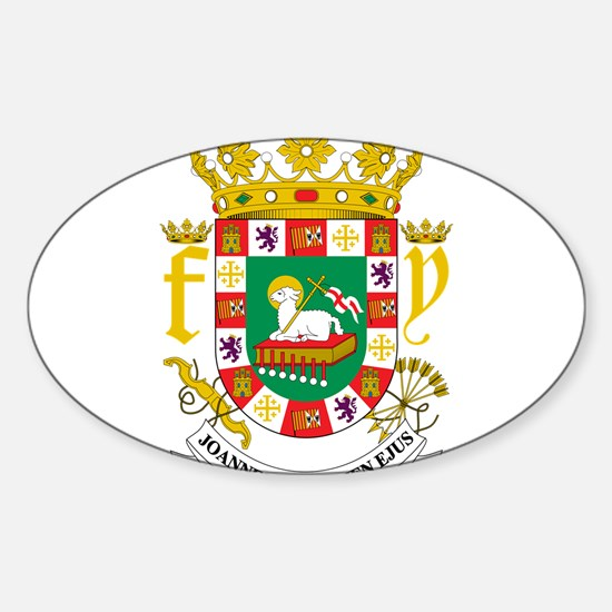 Puerto Rico Coat Of Arms Sticker (Oval)