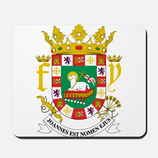 Puerto Rico Coat Of Arms Mousepad