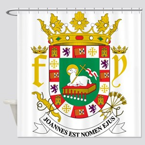 Puerto Rico Coat Of Arms Shower Curtain