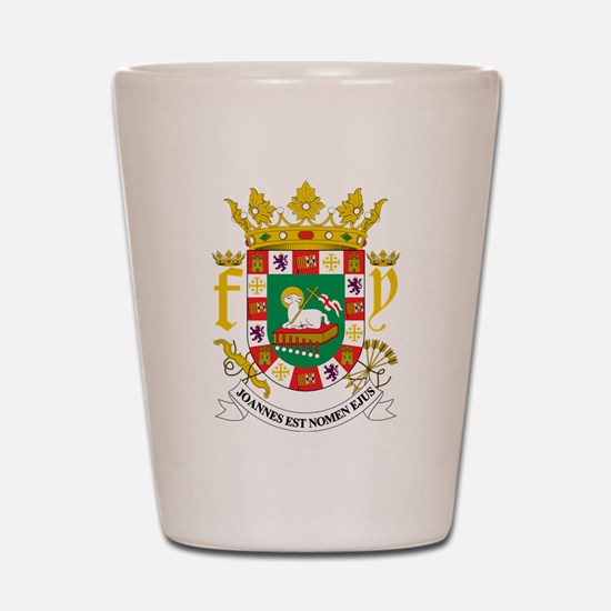 Puerto Rico Coat Of Arms Shot Glass