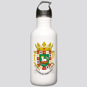 Puerto Rico Coat Of Arms Stainless Water Bottle 1.