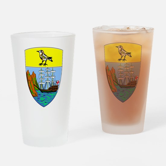 Saint Helena Coat Of Arms Drinking Glass