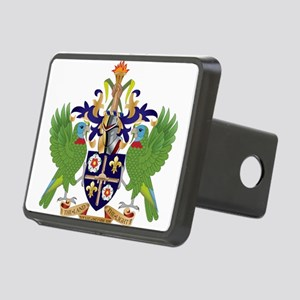 Saint Lucia Coat Of Arms Rectangular Hitch Cover