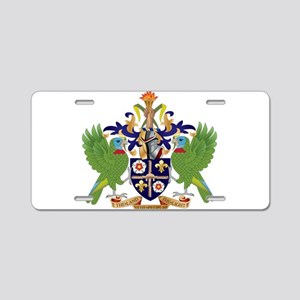 Saint Lucia Coat Of Arms Aluminum License Plate