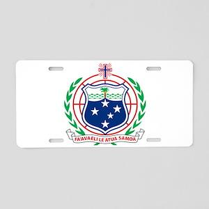 Samoa Coat Of Arms Aluminum License Plate