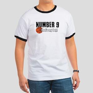Basketball Parent Of Number 9 Ringer T