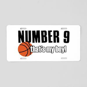 Basketball Parent Of Number 9 Aluminum License Pla