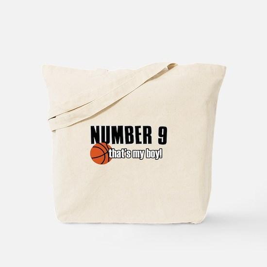 Basketball Parent Of Number 9 Tote Bag