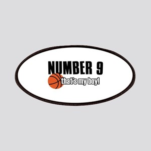 Basketball Parent Of Number 9 Patches